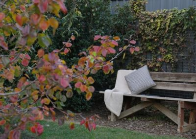 cosy garden seating at Studio 367